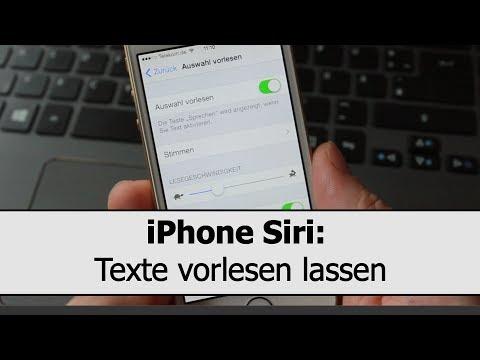 iPhone Siri Vorlesefunktion: Texte vorlesen lassen, zum Beispiel iBooks, Webseiten, E-Mails und SMS