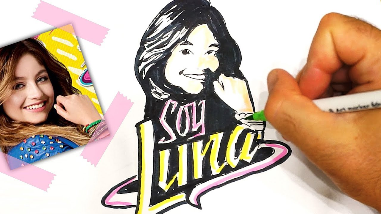 Soy Luna Disegno Facile In Italiano Soy Lua Pop Art Youtube
