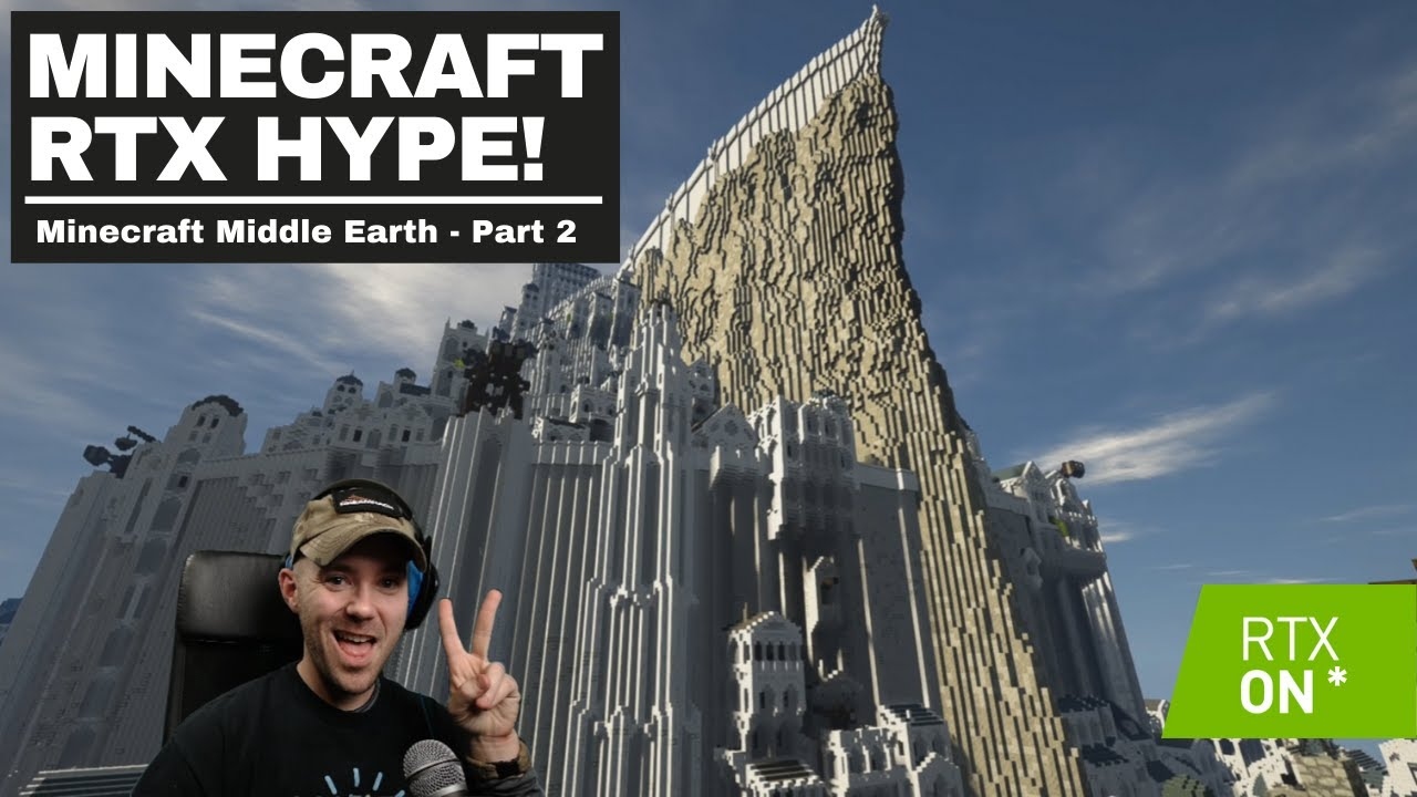 Minecraft RTX HYPE and Giveaway   Minecraft Middle Earth Ray Traced   Part 2 - Return of the King