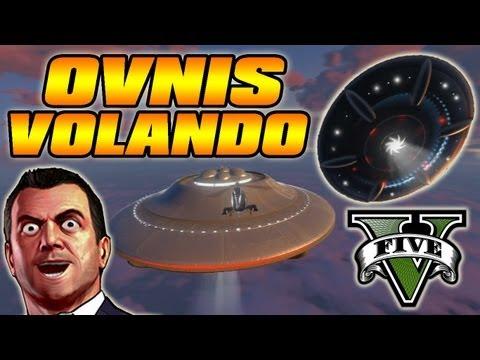 Misterios De GTA V - OVNIS Volando - Como Encontrar 3 OVNIS En Grand Theft Auto V (GTA 5)