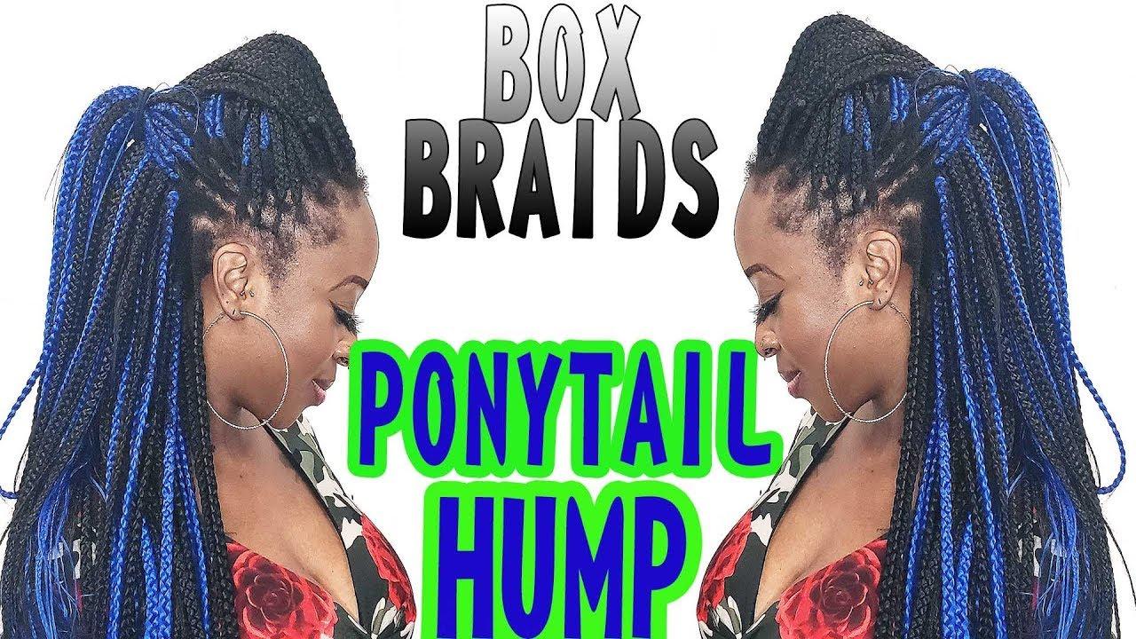 box braid ponytail hump   box braid tutorial styles   box braid ponytail hairstyles