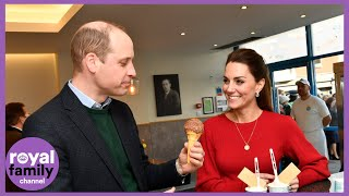 Duke and Duchess of Cambridge Visit Ice Cream Parlour by Sea Front
