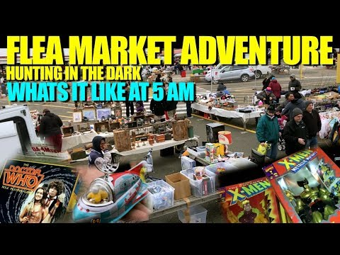 FLEA MARKET ADVENTURE #96 Hunting Toys, Video Games at 5AM Whats it like?