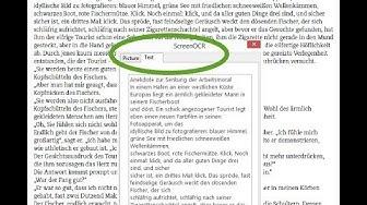 Text aus Bilder erkennen und kopieren / extrahieren / auslesen