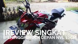 #5 Review Seminggu Menggunakan Peninggi Shock Depan | New Vixion Lightning | Motovlog Indonesia