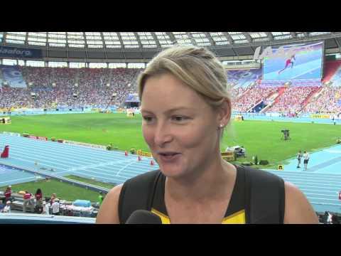 Moscow 2013 - Kimberley MICKLE AUS - Javelin Throw Women - Final - Silver