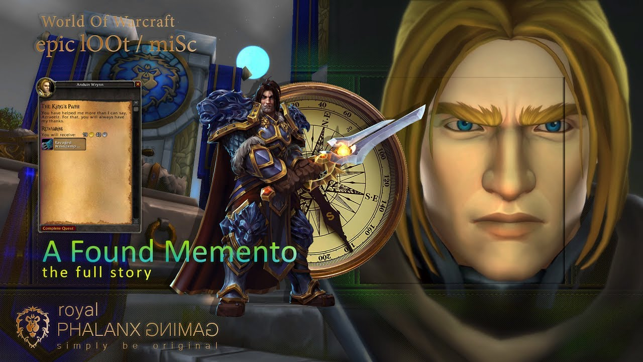 A Found Mement Fullstory King Anduin Wrynn The King S Path Cinematic Youtube