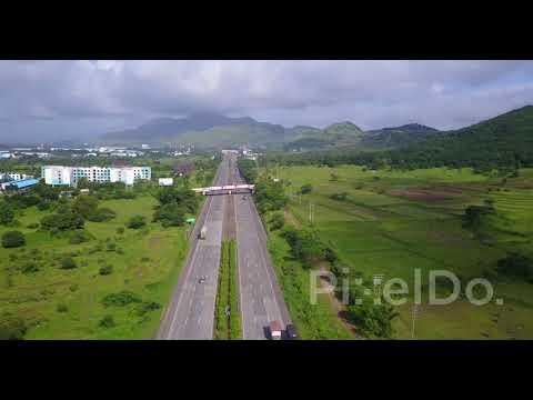 Mumbai Pune expressway stock drone video