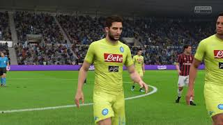 FIFA 18 PS4 | NAPOLI vs AC MILAN | ITALIAN SERIE A PREDICTION | CPU VS CPU | Football game