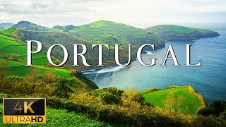 FLYING OVER PORTUGAL (4K UHD)  Relaxing Music With Stunning Beautiful Nature (4K Video Ultra HD)