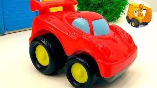 Carritos en TV para niños - Coches para niños - Excavadoras y camiones - Videos de juguetes