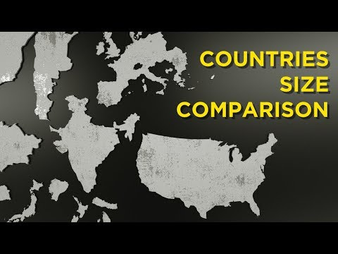 The Actual Size Of The COUNTRIES