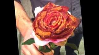 Мужская еда   оригинальная закуска Роза