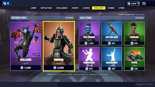 SHOGUN Skin, Kabuto Glider, Jawblade Pickaxe are BACK - January 28th Fortnite Daily Item Shop LIVE