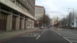 Driving in London - Tower of London to The Kia Oval : Surrey County Cricket Club