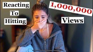 REACTING TO HITTING 1,000,000 VIEWS! *emotional* 2018