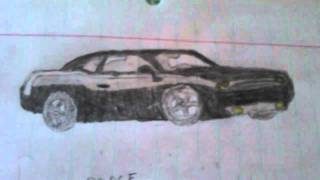 Dodge Challenger - First Car Drawing