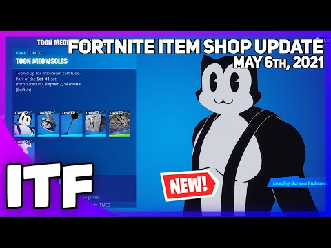 Fortnite Item Shop *NEW* TOON MEOWSCLES BUNDLE! [May 6th, 2021] (Fortnite Battle Royale)