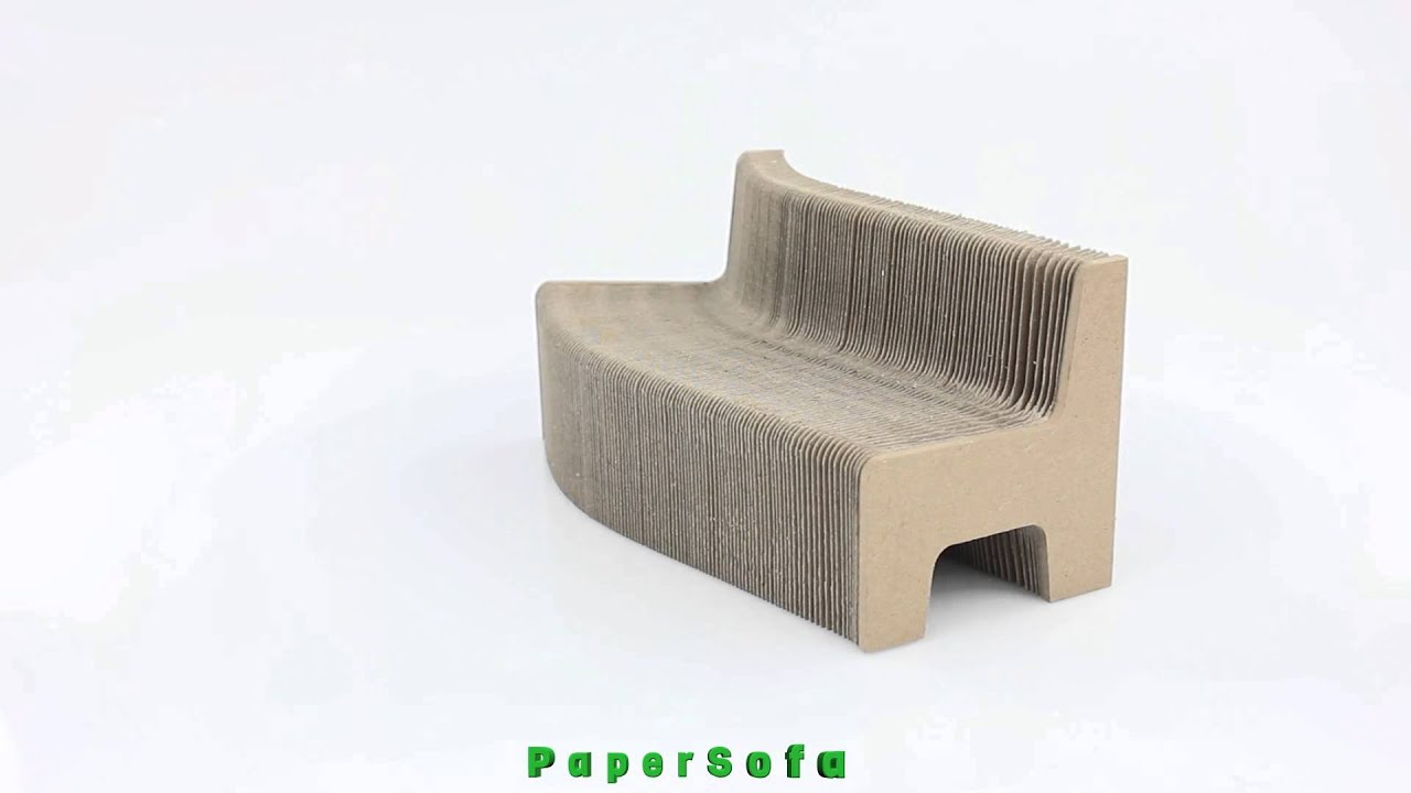 foldable cardboard furniture. Folding Cardboard Honeycomb Paper Chair | Modular Furniture - YouTube Foldable