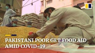 Coronavirus: In Pakistan food aid is distributed to the poor in Karachi