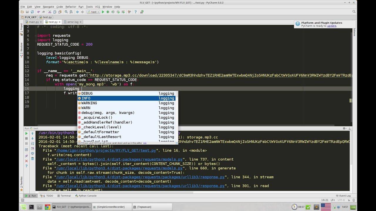Python отладка программы  Python logging