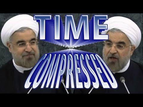 Iranian President TIME COMPRESSED Full Speech! UN Address Speeded Up