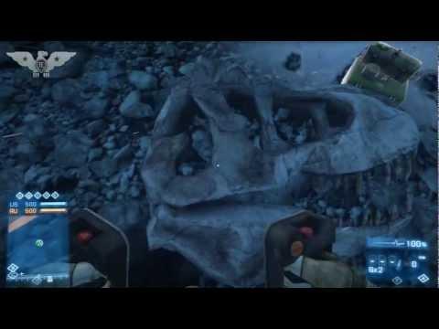 BF3 Dinosaur Skull on Alborz Mountain (Battlefield 3 Armored Kill)
