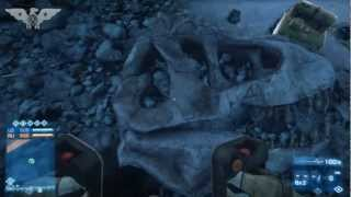 BF3 Dinosaur Skull on Alborz Mountain (Battlefield 3 Armored Kill)