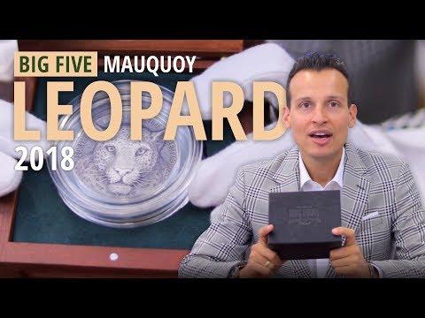 Silber | Big Five Mauquoy Leopard 2018 | 999 Stück | 5 Unzen Silbermünze