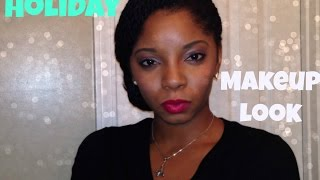 HOLIDAY MAKEUP LOOK 2014 | SIMPLE UP-DO Thumbnail