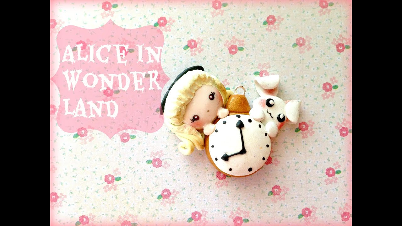 Alice in wonderland charm polymer clay tutorial and collab with alice in wonderland charm polymer clay tutorial and collab with blueraspberrycharms youtube baditri Images