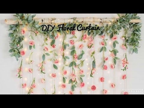 DIY Floral Curtain| My Darling Jordan