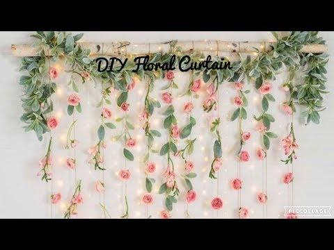DIY Floral Curtain| My Darling Jordan