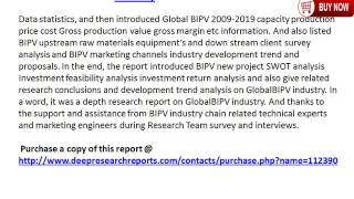 Global BIPV Industry Growth, Share, Size & Forecast to 2020