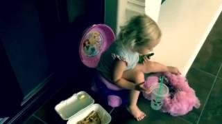 Multi Tasking Potty Training - Toddler Video