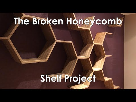The Broken Hexagon Shelf Project | A Custom Hexagon Shelf Build by BespOak Interiors