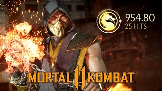 Scorpion Combos - Mortal Kombat 11 (All Variations)