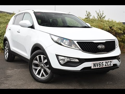 used kia sportage 1 7 crdi isg axis edition 5dr white 2015 youtube. Black Bedroom Furniture Sets. Home Design Ideas