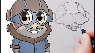 Cómo dibujar a Gaetan Chibi (Atlantis: El imperio perdido)