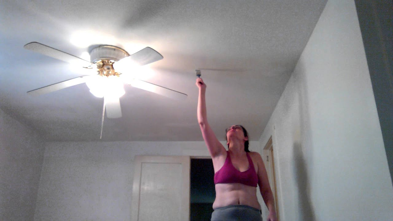 Painting The Bedroom me painting the bedroom ceiling with a brush smh - youtube