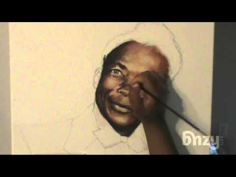 Felix: Portrait Painting Acrylic Time Lapse Painting
