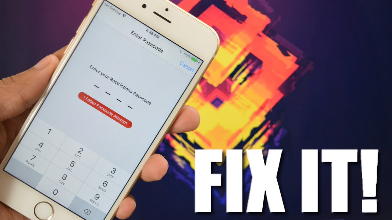 how to change restrictions passcode on iphone