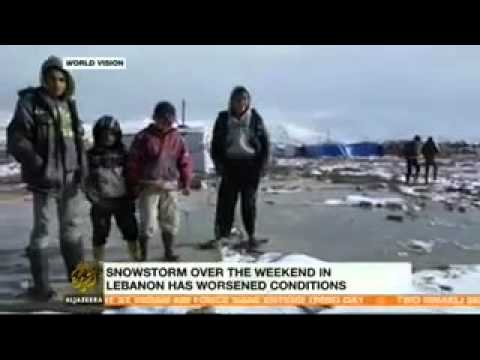 Syrian refugees face wintery conditions in Lebanon's Bekaa Valley
