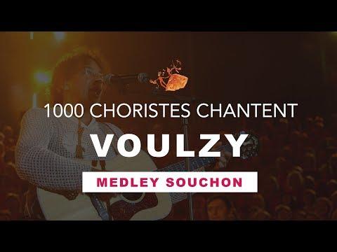 1000 Choristes chantent Laurent Voulzy - Fous Chantants d'Alès 2005 - Medley Alain Souchon