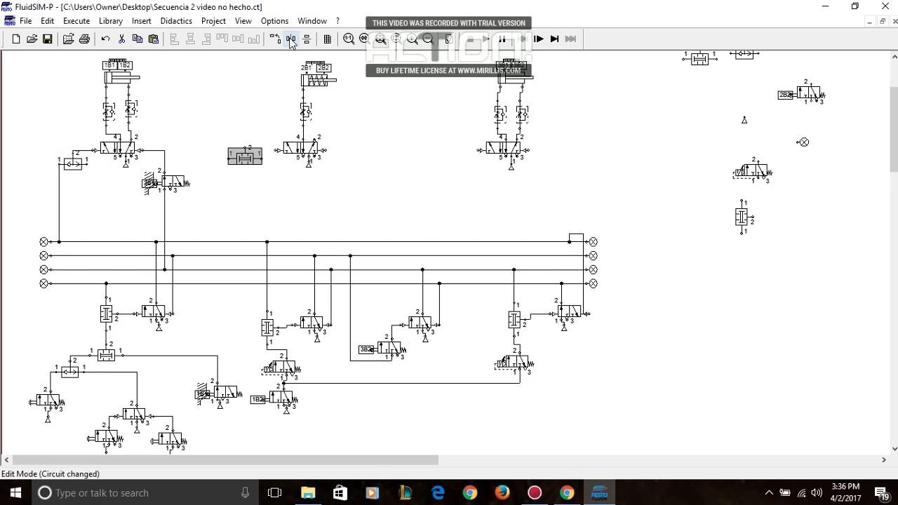 Circuito Neumatico Basico : Circuito neumatico por el metodo paso a paso maximo youtube
