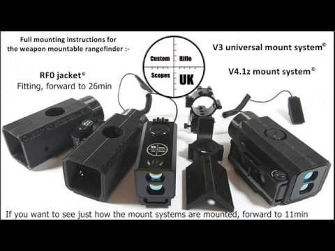 Weapon mountable rangefinder mount system and RF0 Jacket
