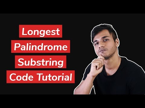 LONGEST PALINDROME SUB STRING WITH DYNAMIC PROGRAMMING