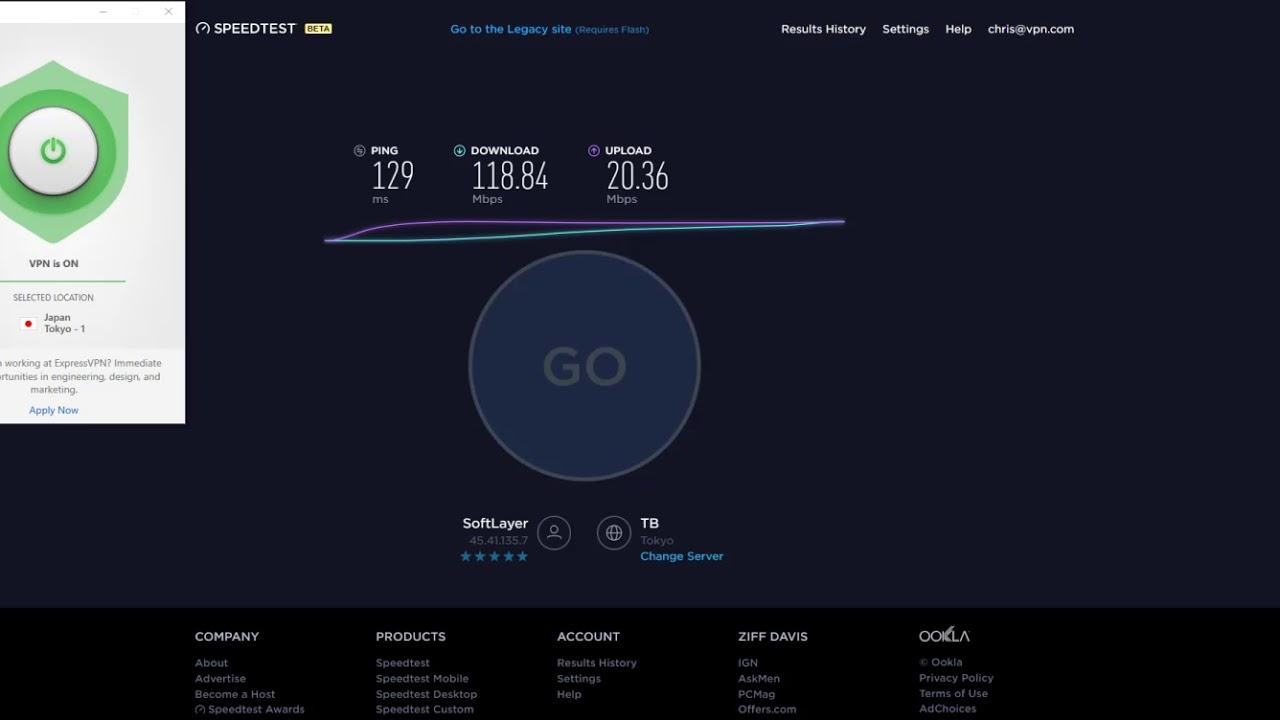 ExpressVPN Speed Test - Tokyo, Japan VPN Server 2017/09/22