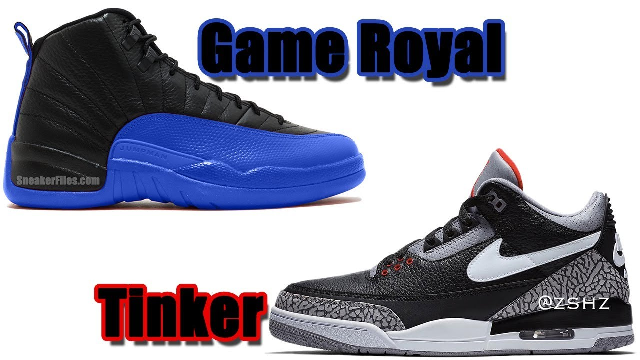 separation shoes 6765b 80cc8 AIR JORDAN 12 GAME ROYAL 2019, JORDAN 3 TINKER BLACK CEMENT, JORDAN 4 PALE  CITRON AND MORE