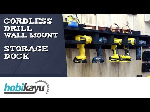 Cordless Drill Wall Mount / Holder - YouTube